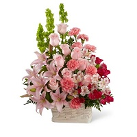 Basket of sympathy flowers